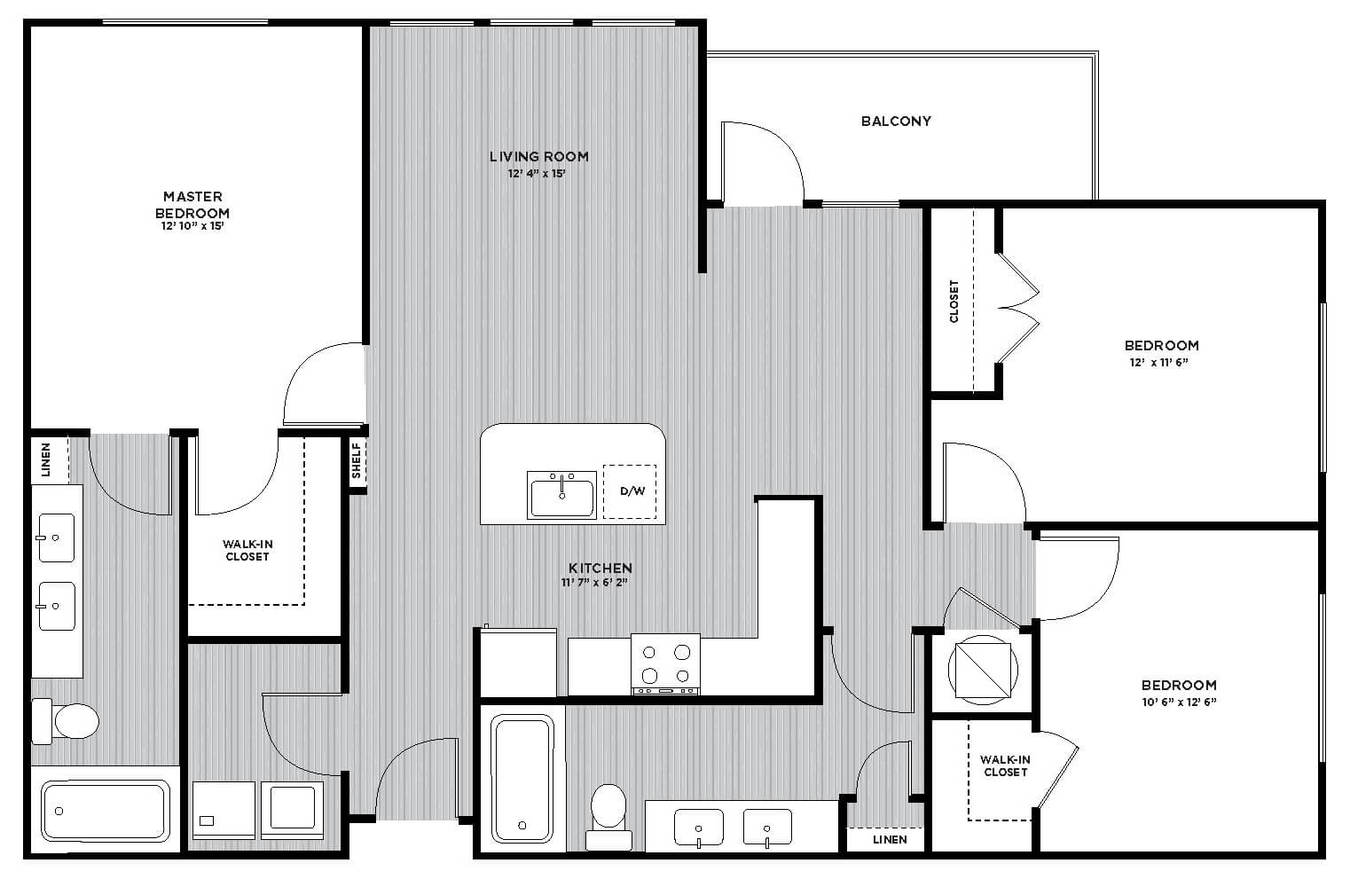 3 Bedrooms 2 Bathrooms Apartment for rent at Maitland Station in Maitland, FL