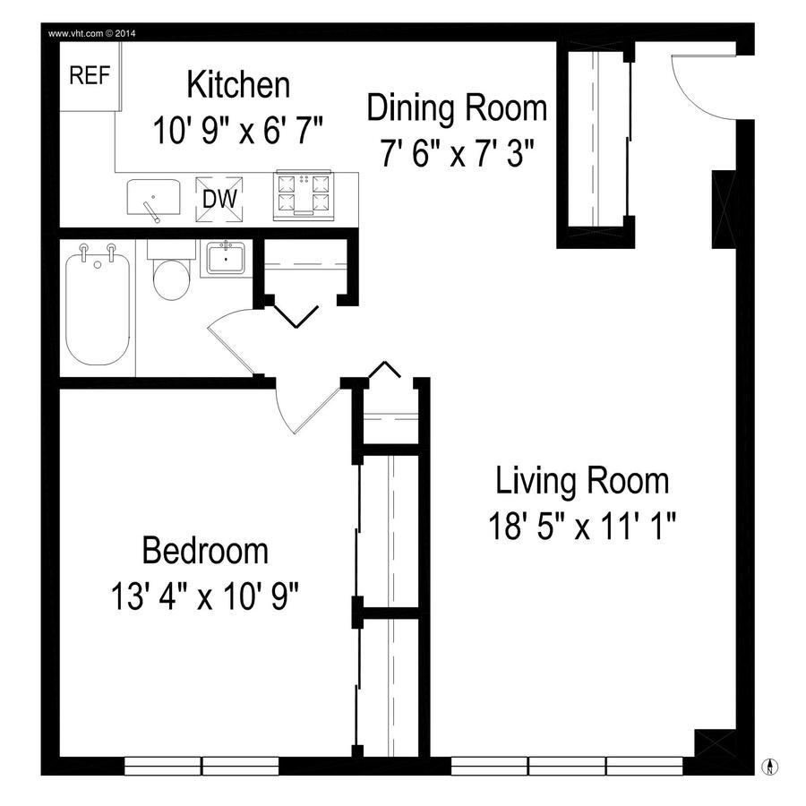 1 Bedroom 1 Bathroom Apartment for rent at Sheridan Shores in Chicago, IL