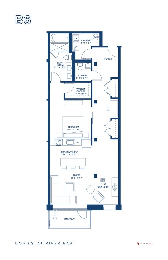 1 Bedroom 1 Bathroom Apartment for rent at The Lofts At River East in Chicago, IL