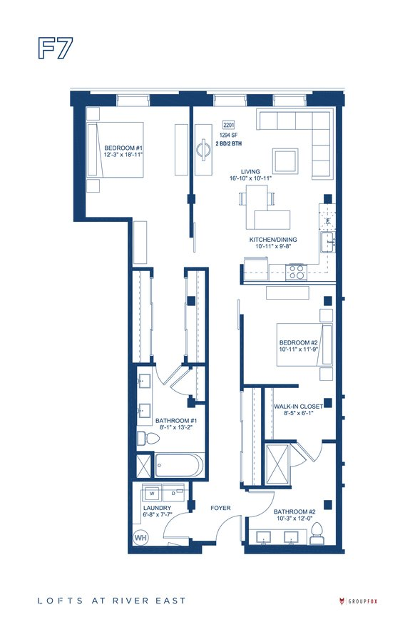 2 Bedrooms 2 Bathrooms Apartment for rent at The Lofts At River East in Chicago, IL