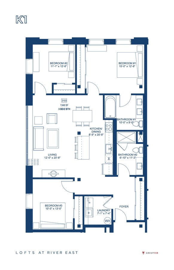 3 Bedrooms 2 Bathrooms Apartment for rent at The Lofts At River East in Chicago, IL