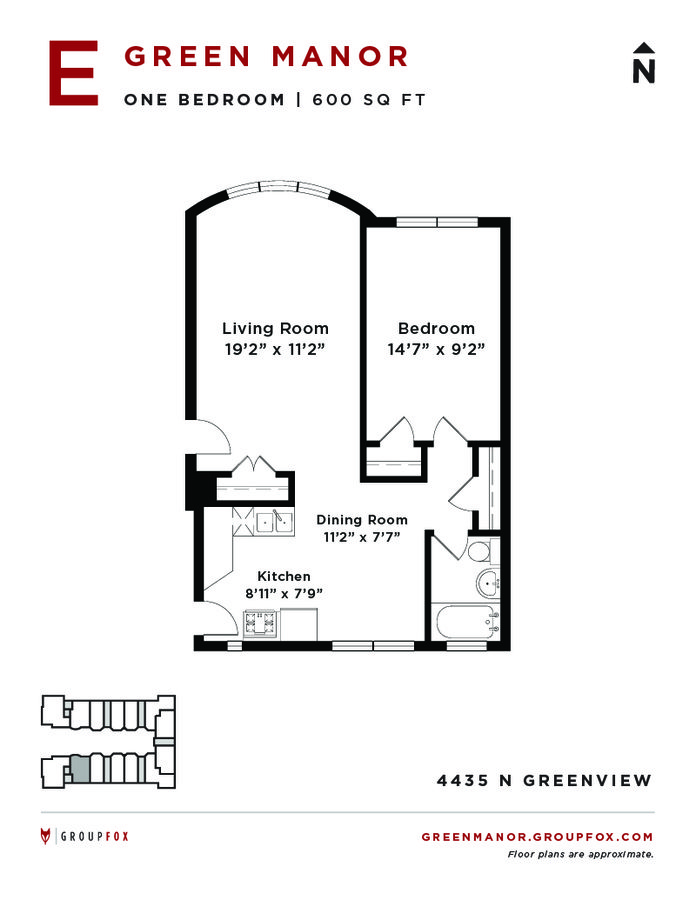 1 Bedroom 1 Bathroom Apartment for rent at Green Manor in Chicago, IL