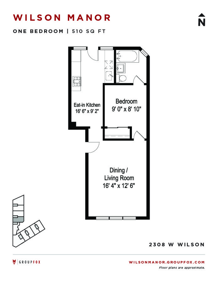 1 Bedroom 1 Bathroom Apartment for rent at Wilson Manor in Chicago, IL