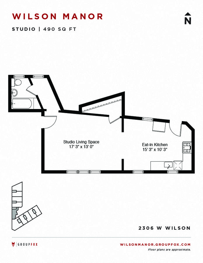 Studio 1 Bathroom Apartment for rent at Wilson Manor in Chicago, IL