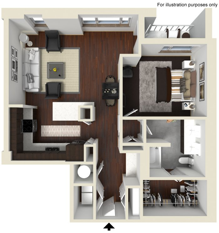 1 Bedroom 1 Bathroom Apartment for rent at Gables Mckinney Ave in Dallas, TX