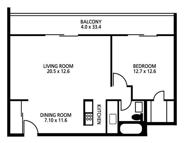 1 Bedroom 1 Bathroom Apartment for rent at Lakeshore Drive Apartments in Cincinnati, OH