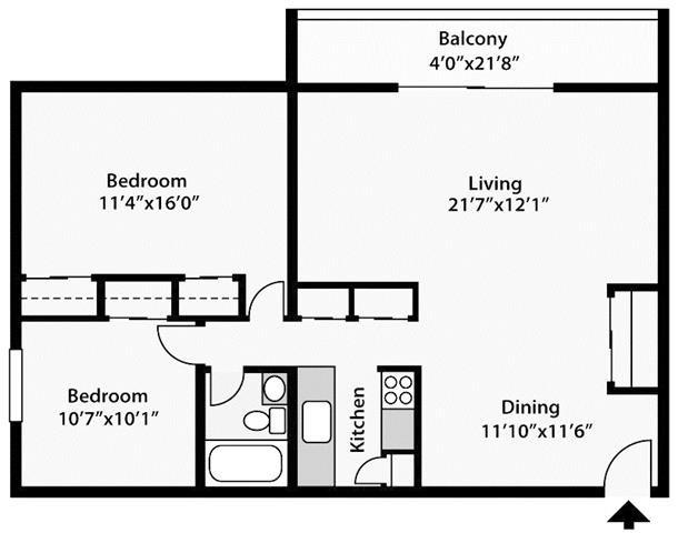 2 Bedrooms 1 Bathroom Apartment for rent at Lakeshore Drive Apartments in Cincinnati, OH