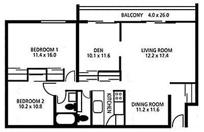 2 Bedrooms 2 Bathrooms Apartment for rent at Lakeshore Drive Apartments in Cincinnati, OH