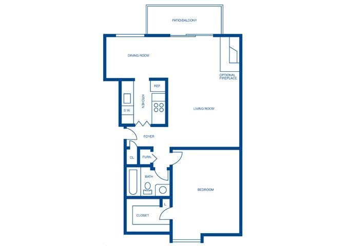 1 Bedroom 1 Bathroom Apartment for rent at Harpers Point Apartments in Cincinnati, OH