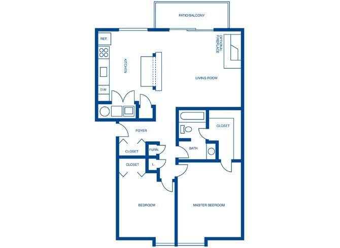 2 Bedrooms 1 Bathroom Apartment for rent at Harpers Point Apartments in Cincinnati, OH