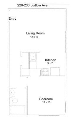 1 Bedroom 1 Bathroom Apartment for rent at Ludlow Avenue Apartments in Cincinnati, OH