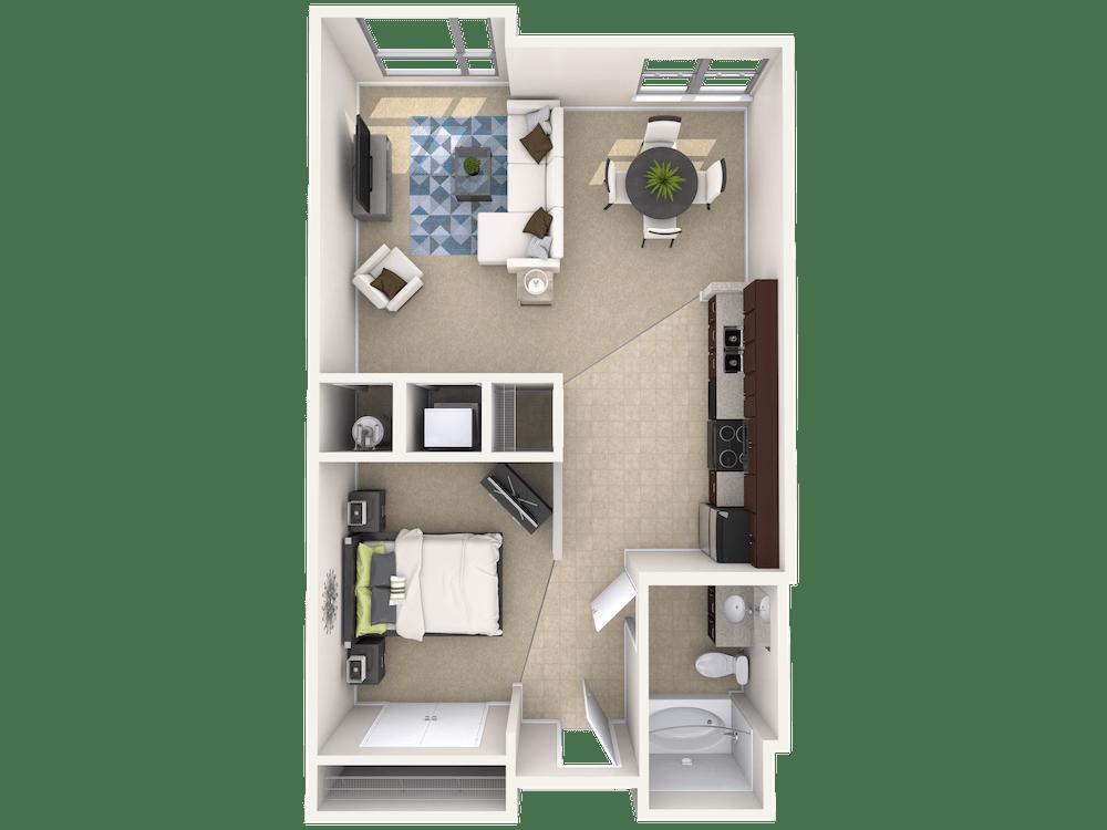 Studio 1 Bathroom Apartment for rent at Current At The Banks in Cincinnati, OH