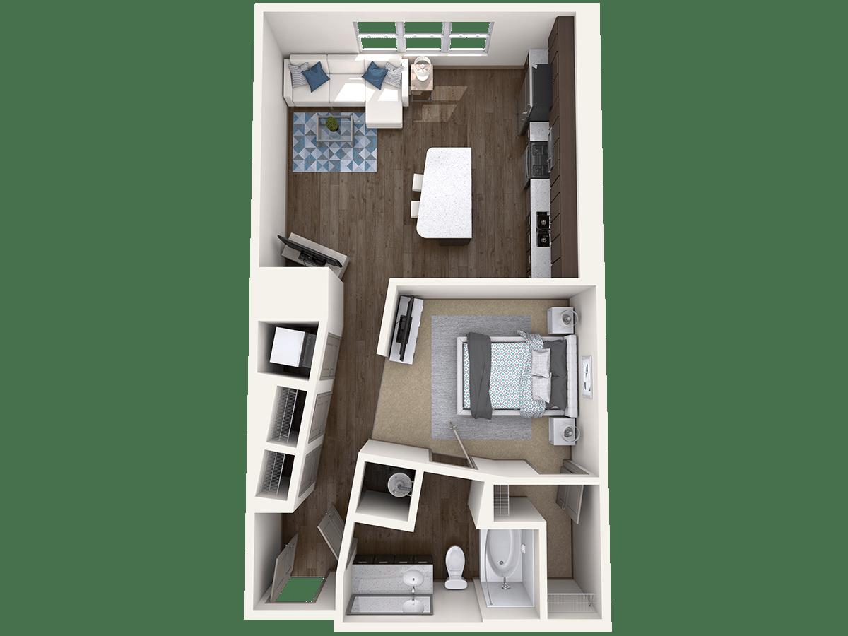 Studio 1 Bathroom Apartment for rent at Radius At The Banks in Cincinnati, OH