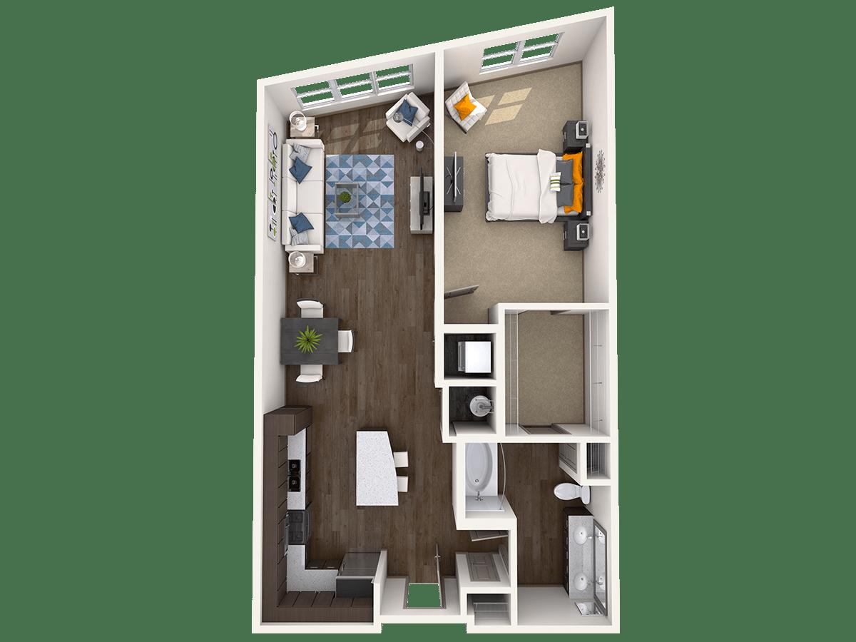 1 Bedroom 1 Bathroom Apartment for rent at Radius At The Banks in Cincinnati, OH