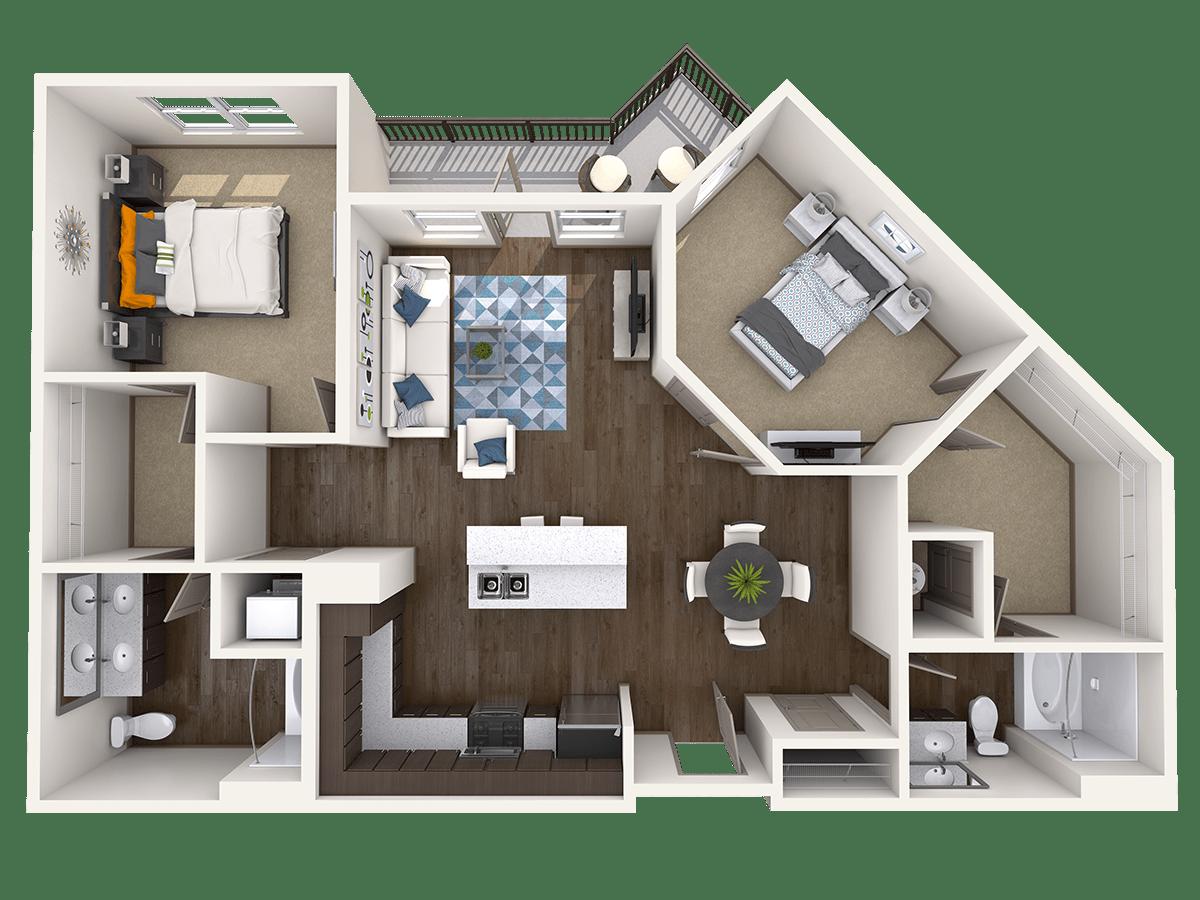 2 Bedrooms 2 Bathrooms Apartment for rent at Radius At The Banks in Cincinnati, OH