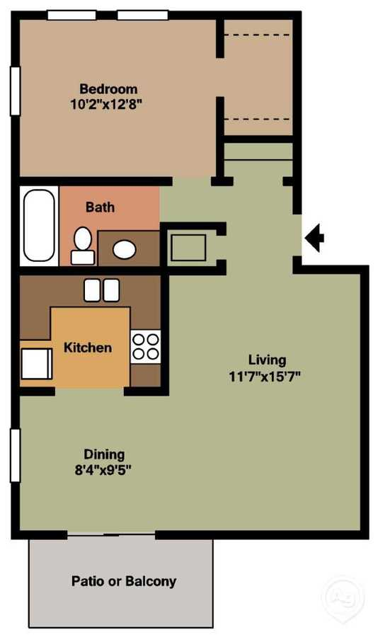 1 Bedroom 1 Bathroom Apartment for rent at Ashley Woods in Cincinnati, OH