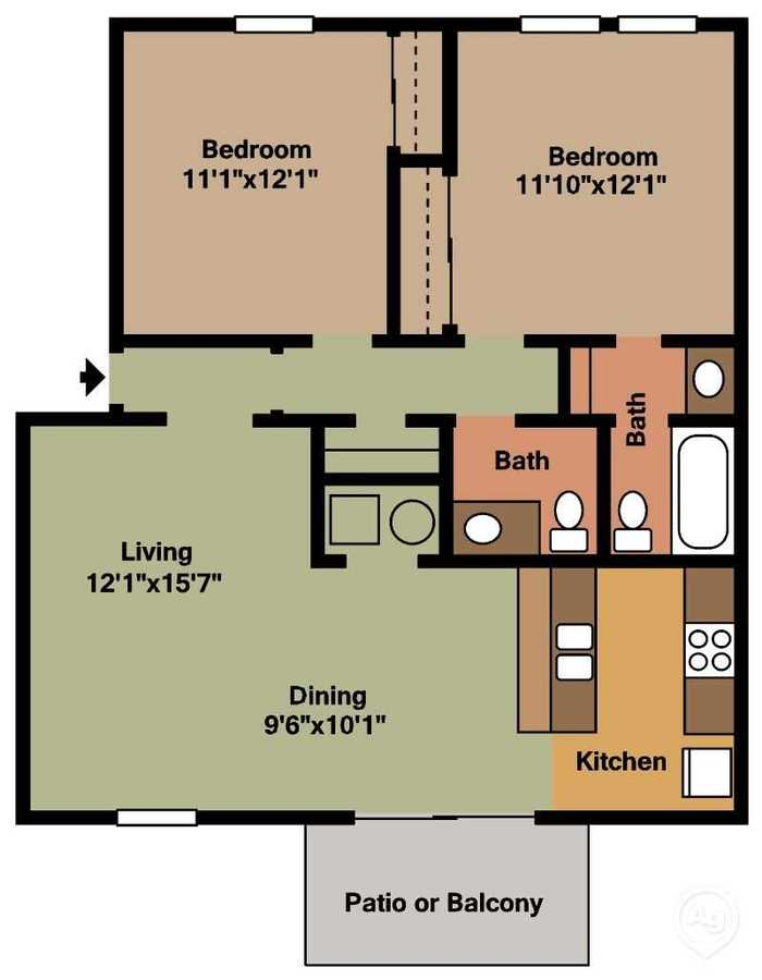 2 Bedrooms 2 Bathrooms Apartment for rent at Ashley Woods in Cincinnati, OH