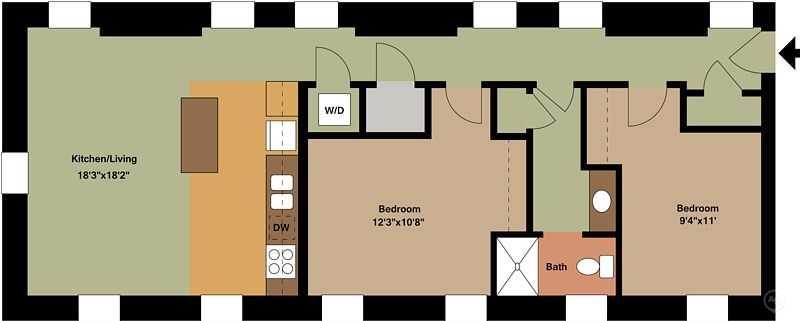 2 Bedrooms 1 Bathroom Apartment for rent at Broadway Square in Cincinnati, OH
