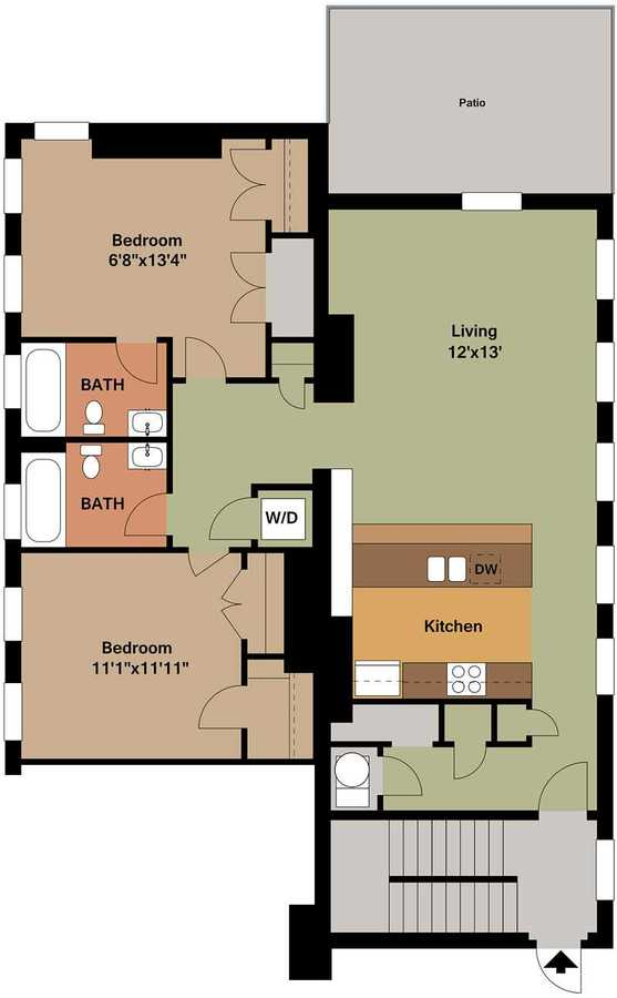 2 Bedrooms 2 Bathrooms Apartment for rent at Broadway Square in Cincinnati, OH