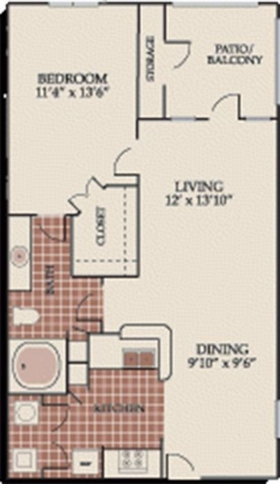1 Bedroom 1 Bathroom Apartment for rent at Creekside At Northlake in Northlake, TX
