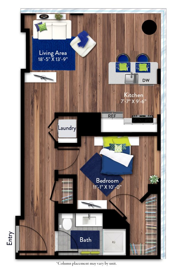 1 Bedroom 1 Bathroom Apartment for rent at 1919 Market in Philadelphia, PA