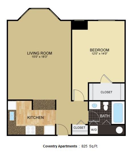1 Bedroom 1 Bathroom Apartment for rent at Coventry Apartments in Glendale, WI