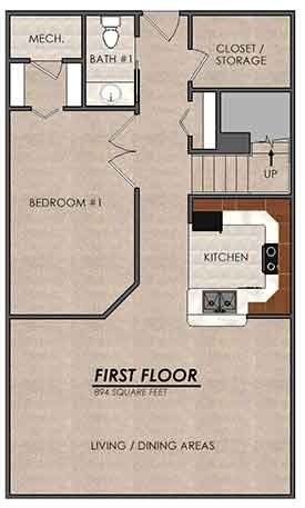 3 Bedrooms 2 Bathrooms Apartment for rent at Gaslight Village in East Lansing, MI