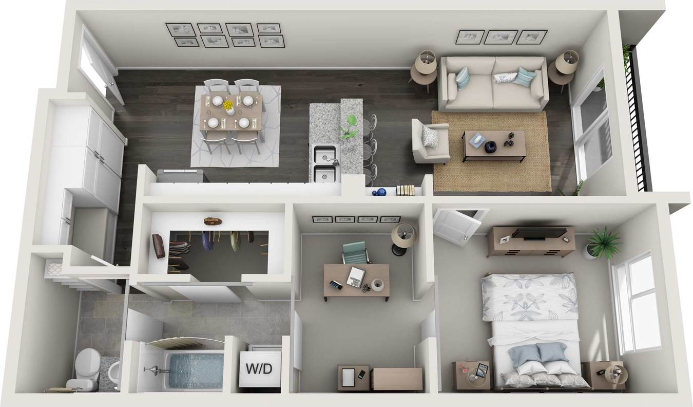 1 Bedroom 1 Bathroom Apartment for rent at GARDENS AT CHERRY CREEK in Denver, CO