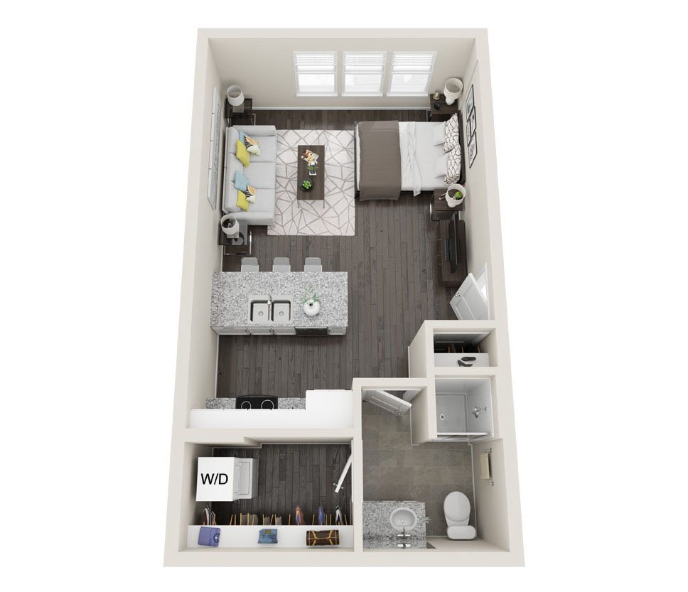 Studio 1 Bathroom Apartment for rent at Alas Over Lowry in Denver, CO