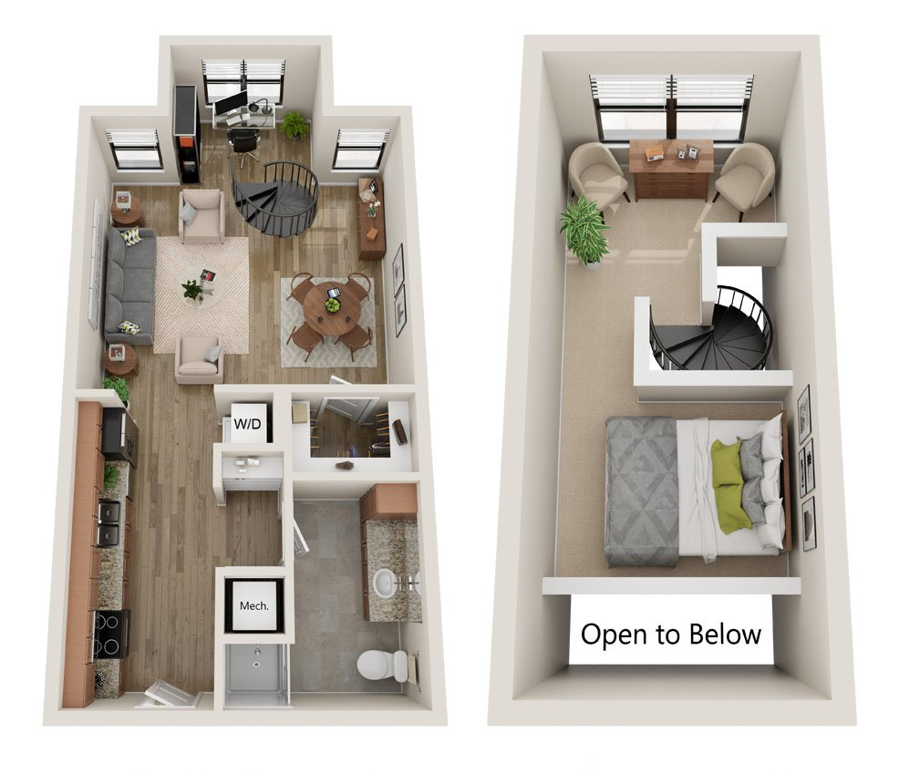 Studio 1 Bathroom Apartment for rent at Cielo Apartments in Charlotte, NC