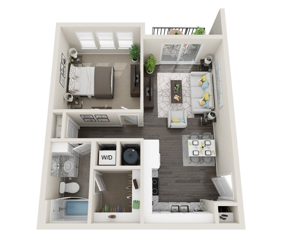 1 Bedroom 1 Bathroom Apartment for rent at Alas Over Lowry in Denver, CO