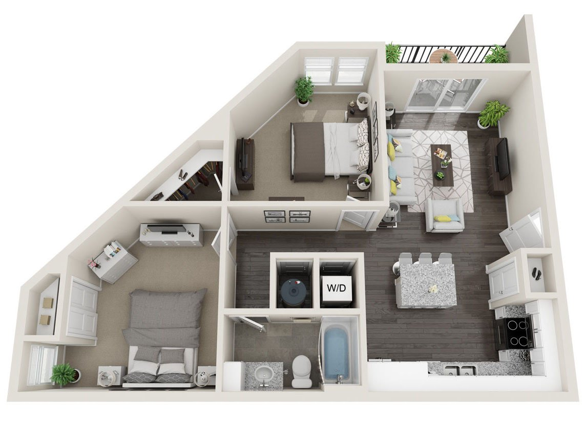 2 Bedrooms 1 Bathroom Apartment for rent at Alas Over Lowry in Denver, CO