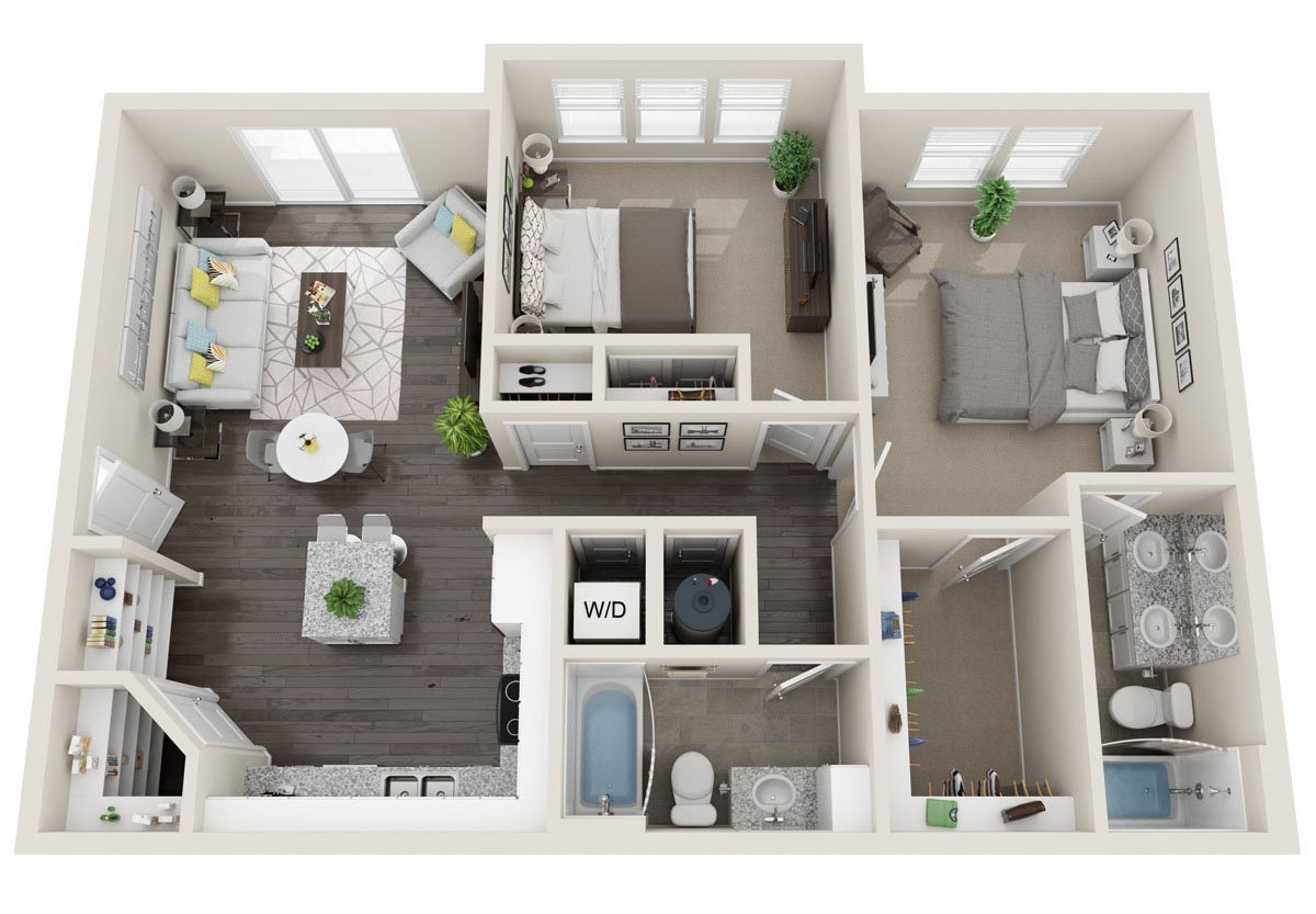 2 Bedrooms 2 Bathrooms Apartment for rent at Alas Over Lowry in Denver, CO
