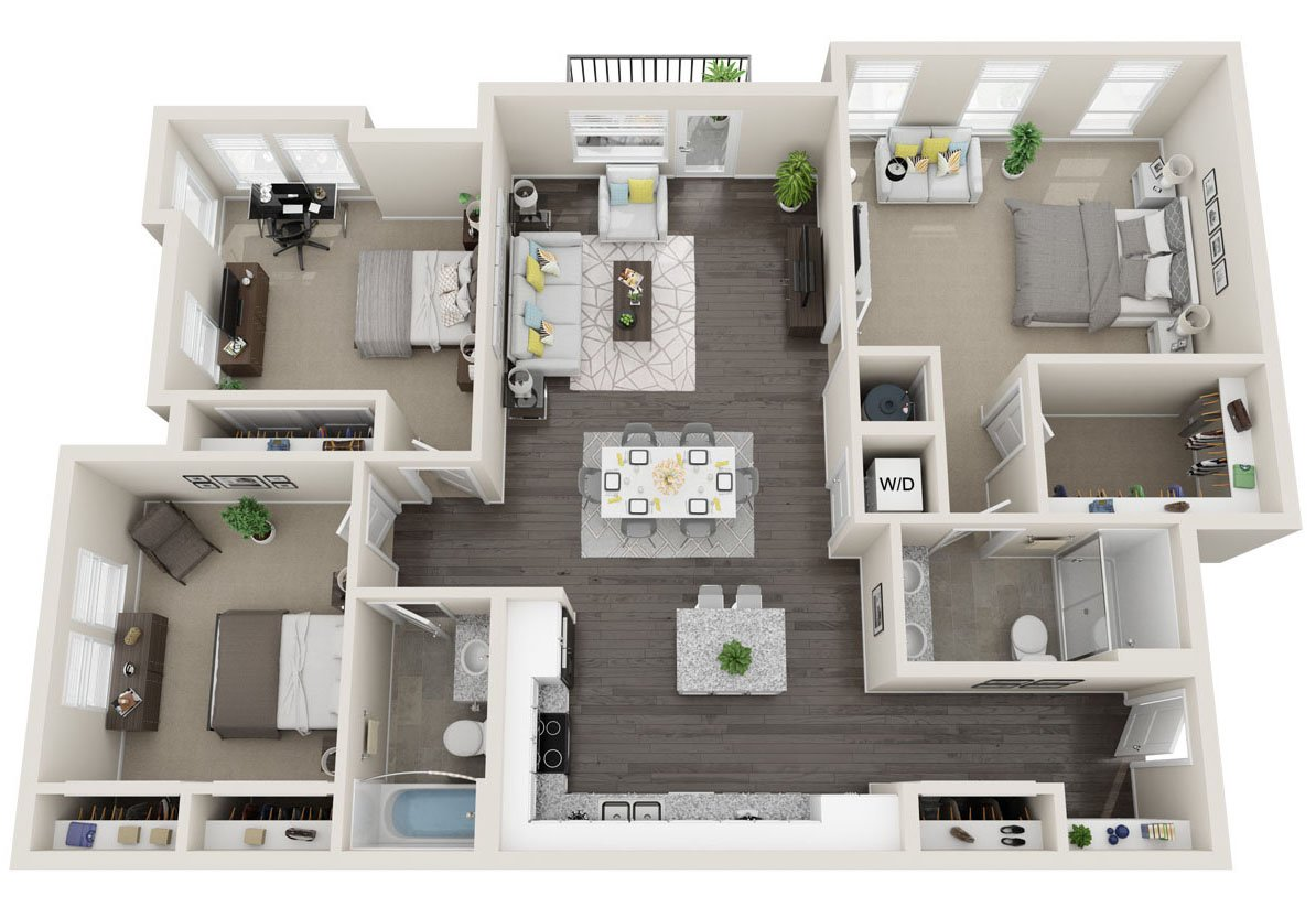 3 Bedrooms 2 Bathrooms Apartment for rent at Alas Over Lowry in Denver, CO