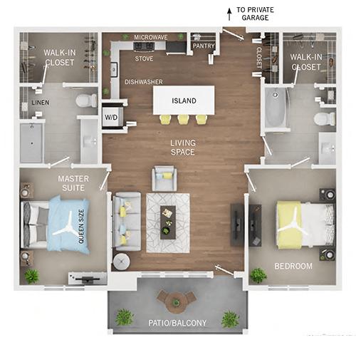 2 Bedrooms 2 Bathrooms Apartment for rent at Oakcliff Apartments in Ann Arbor, MI