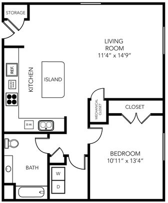 1 Bedroom 1 Bathroom Apartment for rent at State Street Village in Ann Arbor, MI