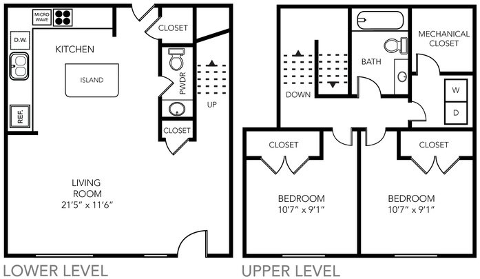 2 Bedrooms 2 Bathrooms Apartment for rent at State Street Village in Ann Arbor, MI