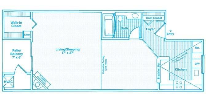 Studio 1 Bathroom Apartment for rent at The Haven Of Ann Arbor in Ann Arbor, MI