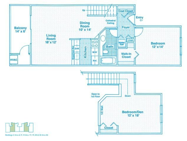 2 Bedrooms 1 Bathroom Apartment for rent at The Haven Of Ann Arbor in Ann Arbor, MI