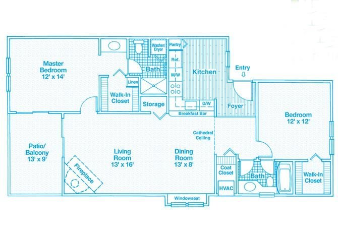 2 Bedrooms 2 Bathrooms Apartment for rent at The Haven Of Ann Arbor in Ann Arbor, MI