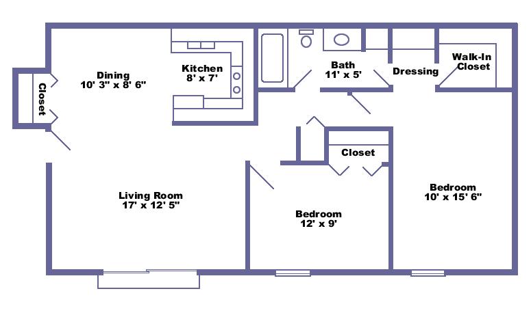 2 Bedrooms 1 Bathroom Apartment for rent at Pheasant Run Apartments in Ann Arbor, MI