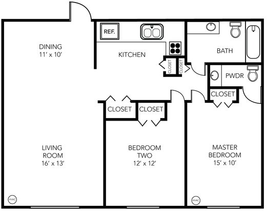 2 Bedrooms 2 Bathrooms Apartment for rent at Evergreen Apartments in Ann Arbor, MI