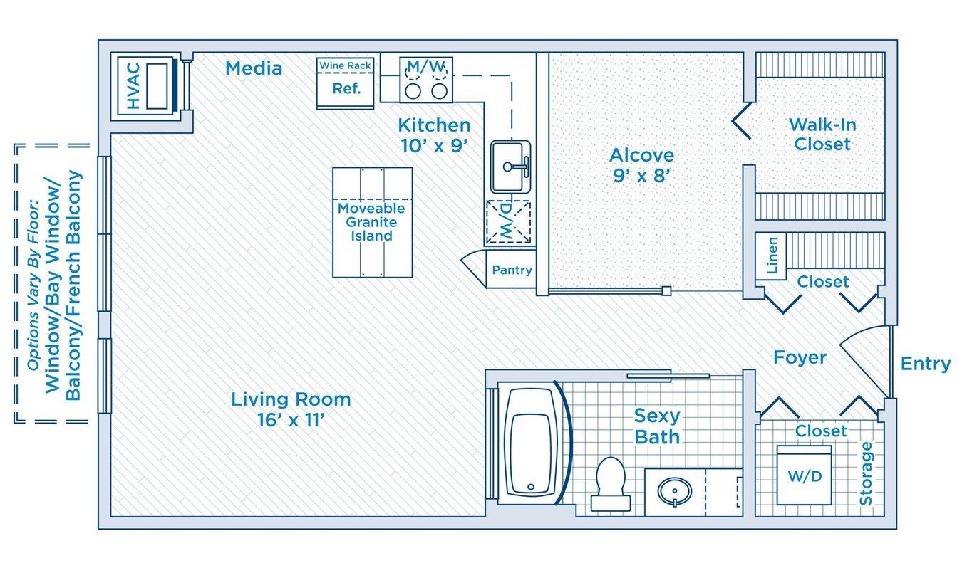 Studio 1 Bathroom Apartment for rent at Ann Arbor City Club Apartments in Ann Arbor, MI