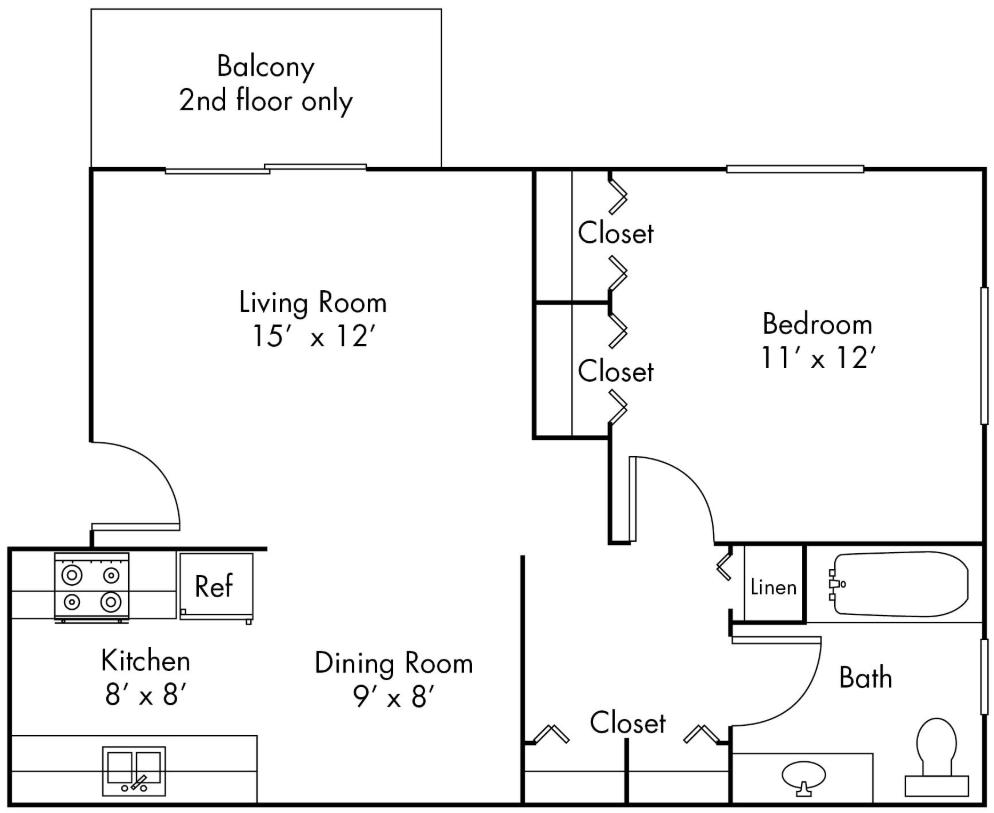 1 Bedroom 1 Bathroom Apartment for rent at Ann Arbor Woods in Ann Arbor, MI