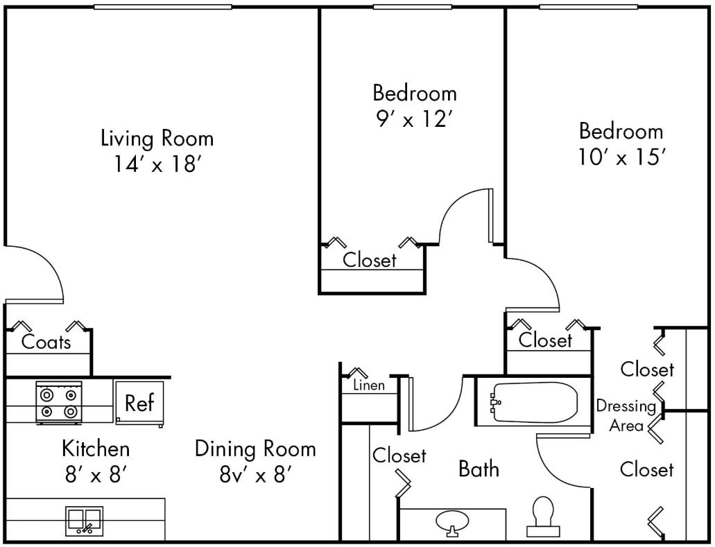 2 Bedrooms 1 Bathroom Apartment for rent at Ann Arbor Woods in Ann Arbor, MI