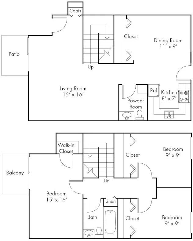 3 Bedrooms 2 Bathrooms Apartment for rent at Ann Arbor Woods in Ann Arbor, MI