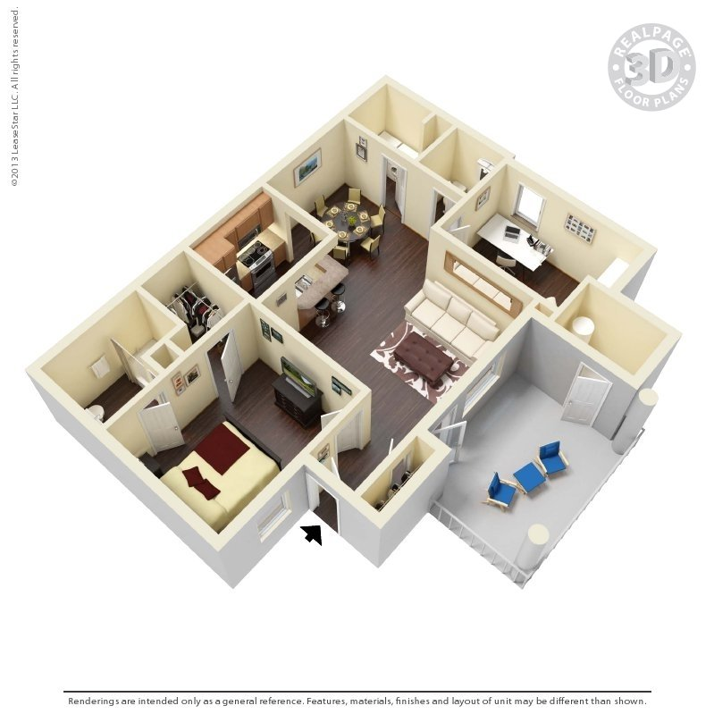 1 Bedroom 1 Bathroom Apartment for rent at Preston Creek in Mcdonough, GA