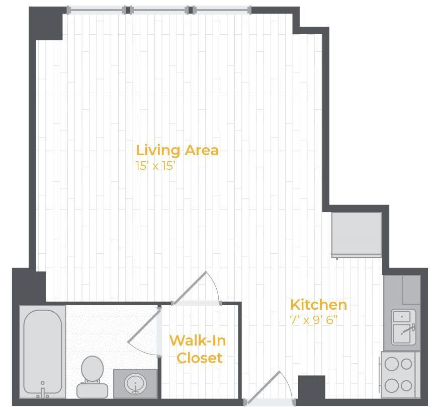 Studio 1 Bathroom Apartment for rent at The Avenue At East Falls in Philadelphia, PA
