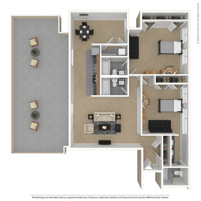 2 Bedrooms 3 Bathrooms Apartment for rent at Skybox Apartments in Eugene, OR