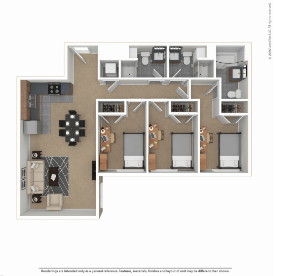 3 Bedrooms 3 Bathrooms Apartment for rent at Skybox Apartments in Eugene, OR